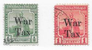 Trinidad #MR12-MR13  War Tax ( U) CV$3.75