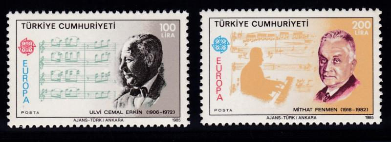 Turkey 1985 EUROPA Issue (2)  Turkish Music & Composers  VF/NH(**)