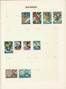 san marino stamps page ref 17050