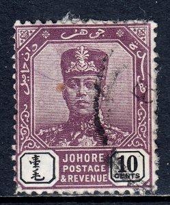 Malaya (Johore) - Scott #82 - Used - Paper adhesion on front/reverse - SCV $3.00