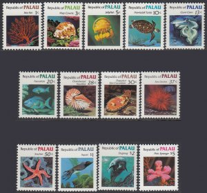 Palau 9-21 MNH - Marine Life