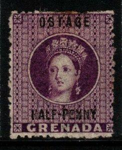 GRENADA SG21c 1881 ½d DEEP MAUVE OSTAGE VARIETY MTD MINT