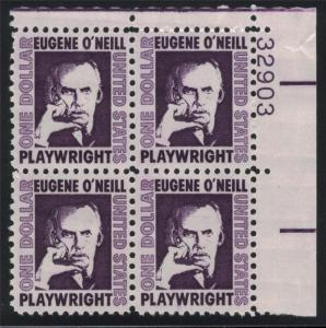 US Stamp Scott #1294 Plate Block Mint NH Eugene O'Neil