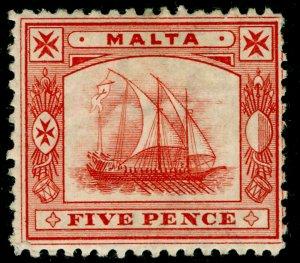 MALTA SG33, 5d Vermilion, M MINT. Cat £48.
