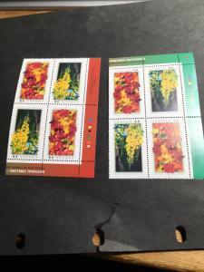 Canada #2001a Mint VF-NH UL&UR Imprint Blocks 2003 48c Natl. Emblems CDA & THAI