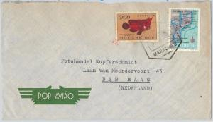 62372  -  MOZAMBIQUE Moçambique  - POSTAL HISTORY:   COVER to ITALY 1959 - FISH