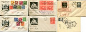 President Franklin Roosevelt FDR Memorial First Day Covers FDC Postage Hispanic