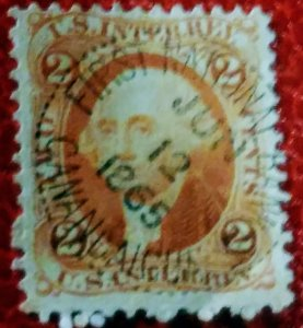 USA R15c 2 cent internal rev. Used F cv$ 70.00