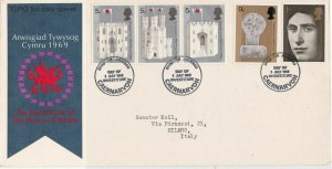 G.B. 1969 The Investiture of the Prince of Wales Various Stamps FDC Cover  34838