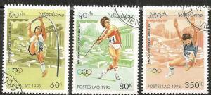 Laos 1221-22, 1224 - CTO-NH - SCV - $2.20