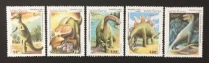 Laos 1995 #1208-12, Dinosaur's, MNH.