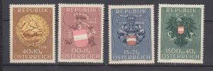 J29504, 1949 austria set mh #b264-7 coat of arms
