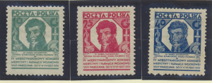 Poland Stamps Scott #246 To 248, Mint Hinged, Original Gum, Hinge Remnants - ...