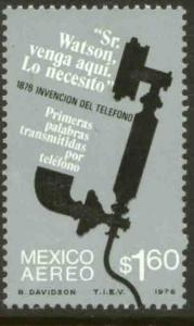 MEXICO C518, Centenary of First Telephone conversation MINT, NH. VF.