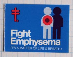 Fight Emphysema American Lung Association Christmas label Charity seal stamp MNH