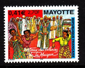 Mayotte MNH Scott #147 2.70fr Return of Pilgrims to Mecca