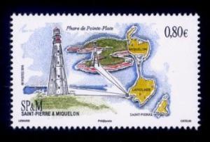 St. Pierre & Miquelon Sc# 1038 MNH Ponte Plate Lighthouse