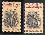 US #2010 Pair MNH & Used. Horatio Alger