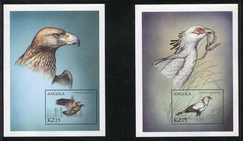 Angola 1148-1149, MNH, Birds, 2000.  x29026