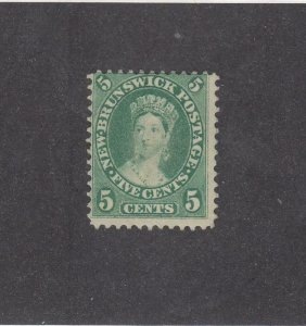 NEW BRUNSWICK (MK3936) # 8 F-MH  5cts  VICTORIA /MAY 1860 /GREEN /CENTS ISSUE