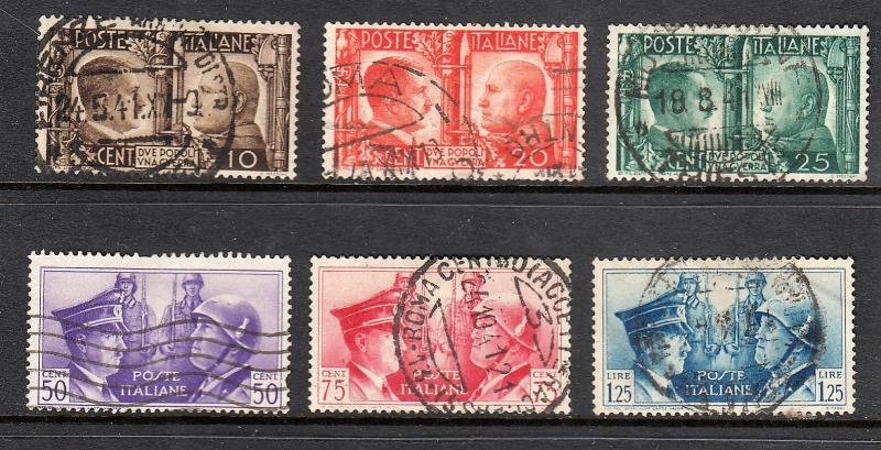 ITALY #413-418 Used