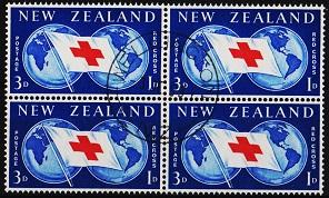 New Zealand. 1959 3d+1d(Block of 4) S.G.775  Fine Used