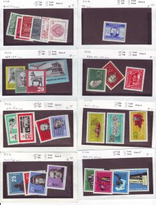Z635 JL stamps germany DDR mnh with sets on sales cards, been checked & sound