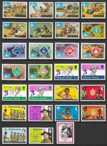 WORLDWIDE Scouting Collection (245) All Mint Never Hinged Sets & Singles