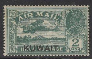 KUWAIT SG31 1933 2a DEEP BLUE-GREEN MTD MINT