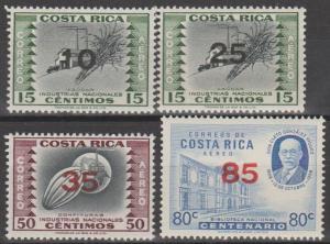 Costa Rica #C334-7 MNH VF  (ST2555L)