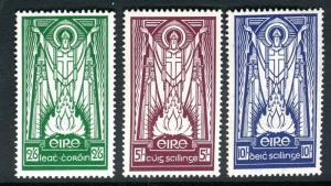 IRELAND-1937 2/6 5/- & 10/-  A lighlty mounted mint set of 3 Sg 102-4