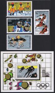 Upper Volta Winter Olympic Games 1980 Winners 4v+MS SG#555-558 SC#533-536