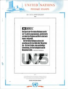 WHITE ACE 2020 United Nations Inscription Blocks Album Supplement UNIB-66
