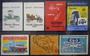 Match Box Labels! automobile car motorcycle vehicle russia sssr russland map GJ2