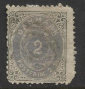 Denmark - Scott 16a - Definitive Issue -1870 - Used - Single 2s Stamp