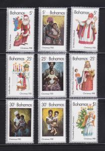 Bahamas 504a-504i Set MNH Christmas
