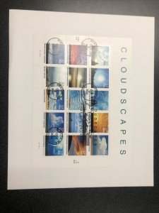US FDC 3878 USPS Souvenir Page Cloudscapes 15 Stamps First Day Of Issue 2004