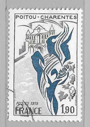 France 1448 1975-6 1.90fr Poitou-Chareentes single Used