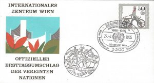 Germany  BRAUNSCHWEIG 1 Stamp Show Cover, UNO,  27 APRIL 1985