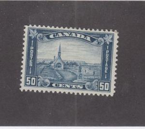 CANADA (MK3323) # 176 VF-MH  50cts 1930 GRAND PRE ACADIAN CHURCH /BLUE CAT $300