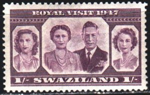 Swaziland. 1947. 47 from the series. Royal dynasty of england. MLH.
