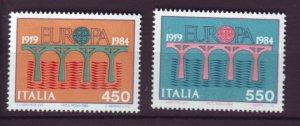 J22659 Jlstamps 1984 italy set mnh #1594-5 europa