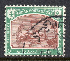 South Sudan 1948 Postage Due 4m Gunboat SG D14 used