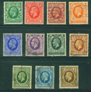 Great Britain Scott 210-220 KGV 1934-6 set CV$35