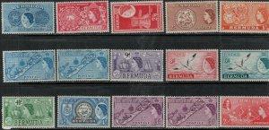 Bermuda SC 143-162 Mint 1953-1958 SCV$ 110.00 Set