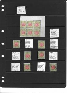1938-46 postage dues 1/2d to 1/- selection of 25 varieties mint and used