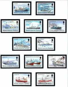 British Antarctic Territory 202-13 MNH 1993 Ships