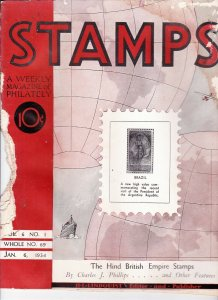 Stamps Weekly Magazine of Philately January 6, 1934 Stamp Collecting Magazine