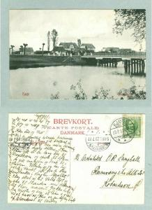 Denmark. Postcard 1907.Town Køge The Pram BridgePeople. 3 Cancel:Køge,Coph.