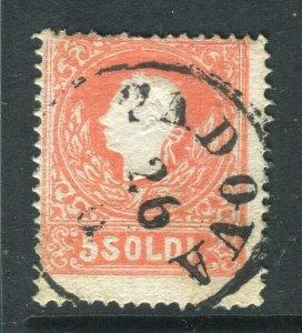 LOMBARDY VENETIA; 1858 early classic F. Joseph issue fine used 5s. value